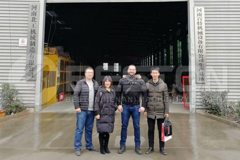 Syrian Customer Visited Beston Pyrolysis Factory