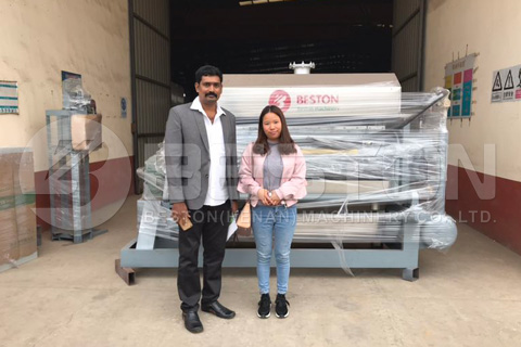 Beston BTF 4-4 Paper Egg Tray Machine Ready for Shipping to India