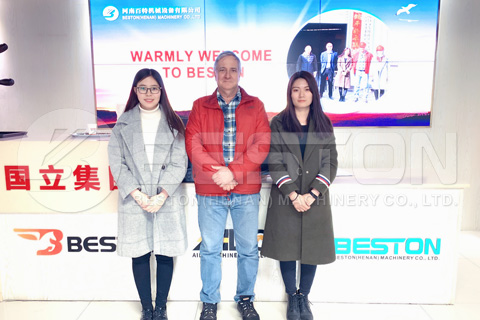Canadian Customers Visited Beston Carbonization Machine Factory