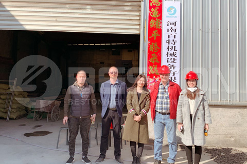 Canadian Customers Visited Beston Carbonization Machine
