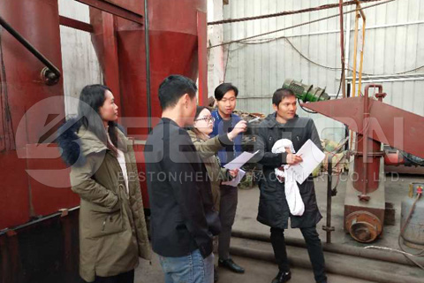 Thailand Customers Visited Beston Palm Kernel Shell Charcoal Machine