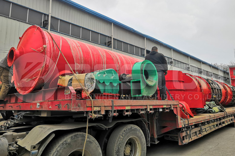 Beston BST-30 Wood and Sawdust Charcoal Making Machine Shipped to Russia