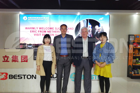 Dutch Customers Visited Beston Company