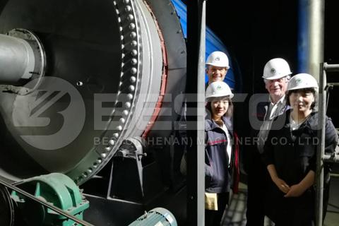 Dutch Customers Visited Beston Pyrolysis Plant