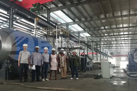 South African Customers Visited Beston Pyrolysis Plant Factory