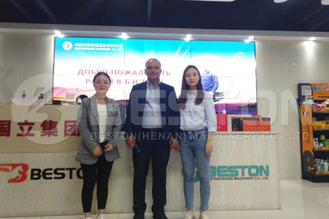 Customer from Azerbaijan Visit Beston Carbonization Machine Factory