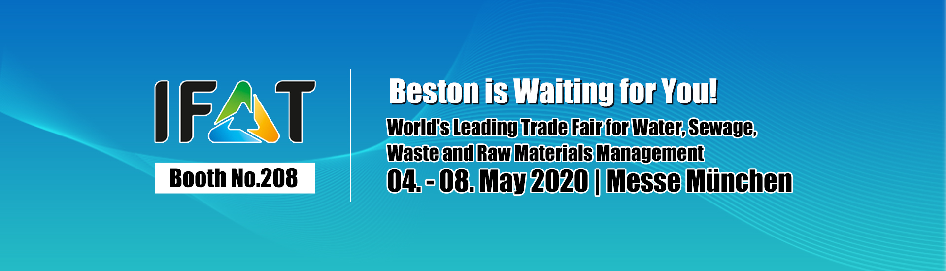 Meet Beston on IFAT 2020 Munich