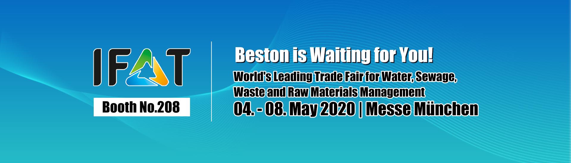 Rencontrer Beston sur IFAT 2020 Munich