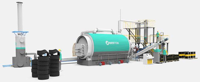 مصنع الانحلال الحراري للإطارات