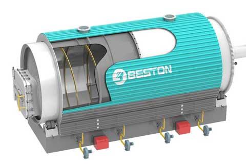 Diseño del reactor de pirólisis de la planta de pirólisis de Beston para la venta