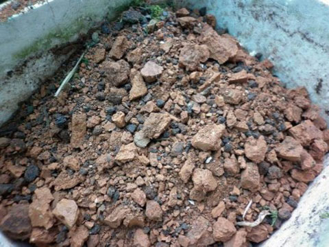 Bricks & Stones sorted out from municipal solid waste sorting machine