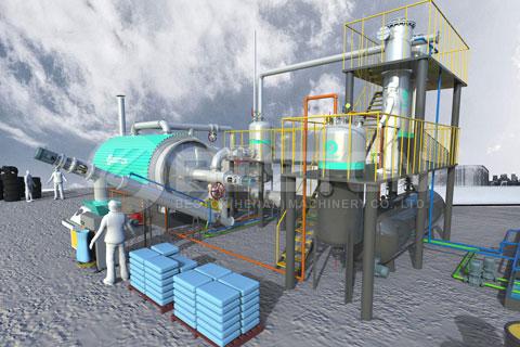 planta de plástico a diesel para la venta