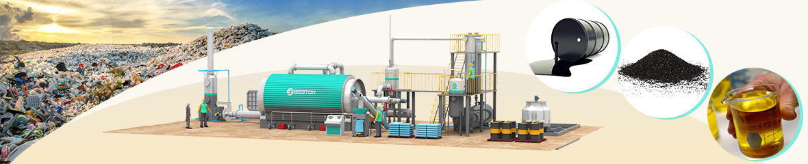 waste palstic pyrolysis plant banner