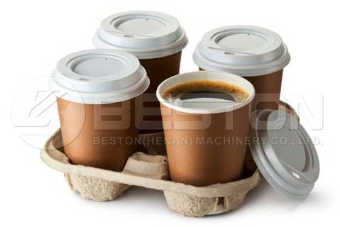Coffee Cup Tray by Paper Pulp Molding Machines