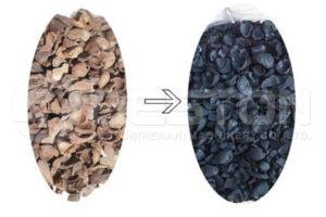 Уголь из скорлупы пальмового ядра