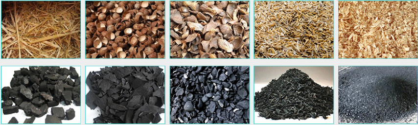 Raw Materials and End Products of Biochar Production Equipment