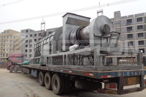 Machine de carbonisation de sciure