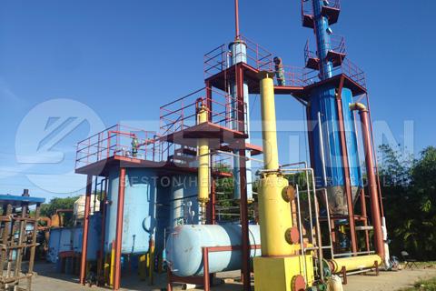 planta de destilación de petróleo en dominica