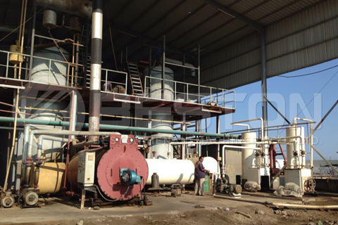 pyrolysis oil distillation plant