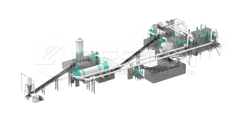 machine à charbon de bois de sciure