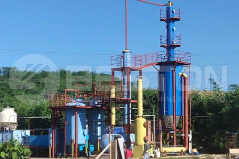 pequeña planta de destilación en dominica