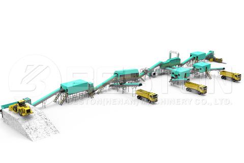 waste segregation system designed by Beston