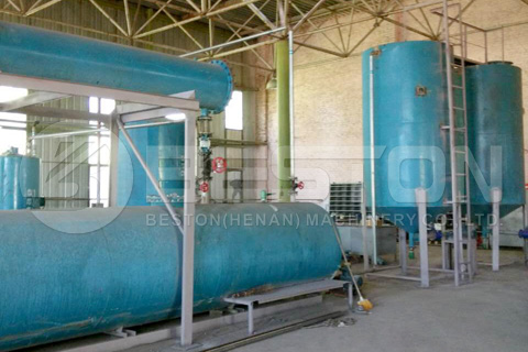 Beston Waste Oil Distillation Plant Installed in Ukraine
