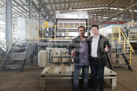 Customers from Saudi Arabia Came to Examine Egg Tray Making Machine