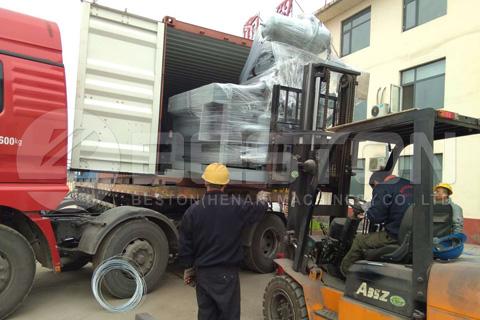 Envío de la máquina de moldeo de pulpa BTF-1-4 a Sudán