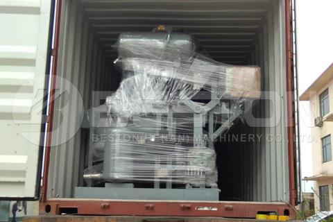 Envío de la máquina de moldeo de pulpa Beston al Sudán