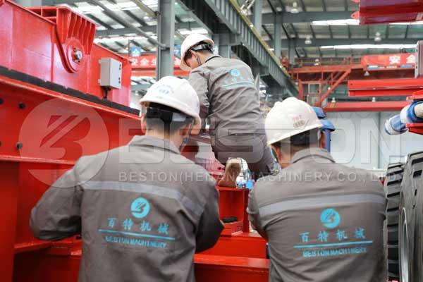 El equipo de servicio de Beston