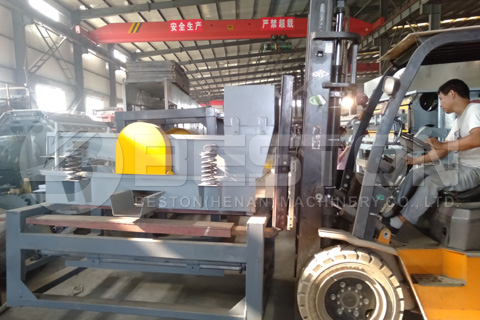 Máquina de fabricación de bandejas de huevos enviada a Rusia