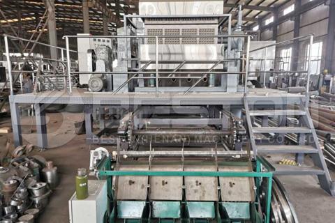 Máquina de fabricación de bandejas de huevos en Rusia