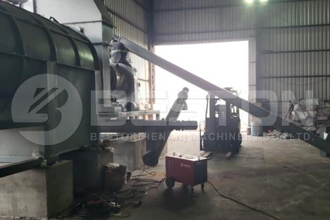 BST-20 Sawdust Charcoal Making Machine Installed in Brazil