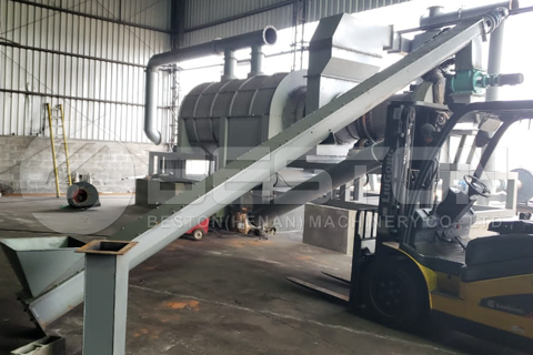Beston BST-20 Sawdust Charcoal Making Machine Installed in Brazil