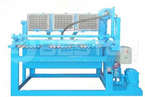 Forming Machine with Egg Tray Mold on It