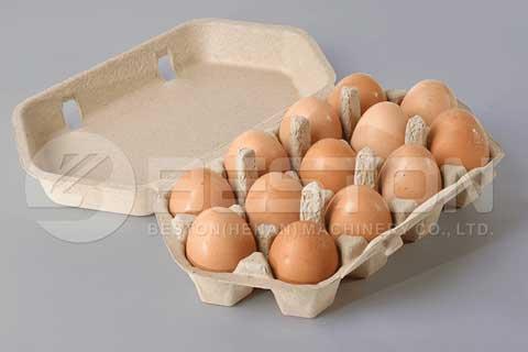Máquina manual para hacer cajas de huevos