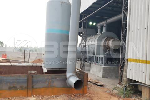 Se instala una máquina de hacer carbón de aserrín en Brasil