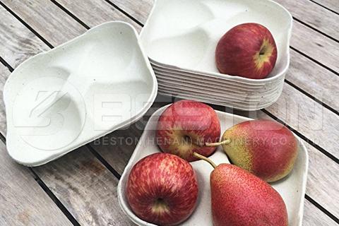 kalıplanmış elma tepsileri