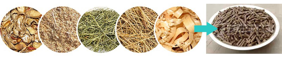 Para convertir los residuos de biomasa en pellets