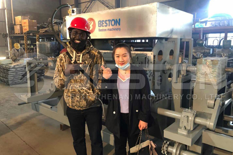 Nigerian Customer Put an Order for Beston Egg Tray Making Machine
