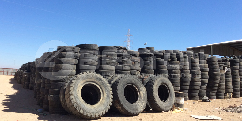 Las materias primas disponibles para la máquina trituradora de neumáticos Beston a la venta
