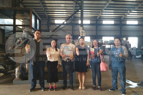 Visiting of egg tray machine factory