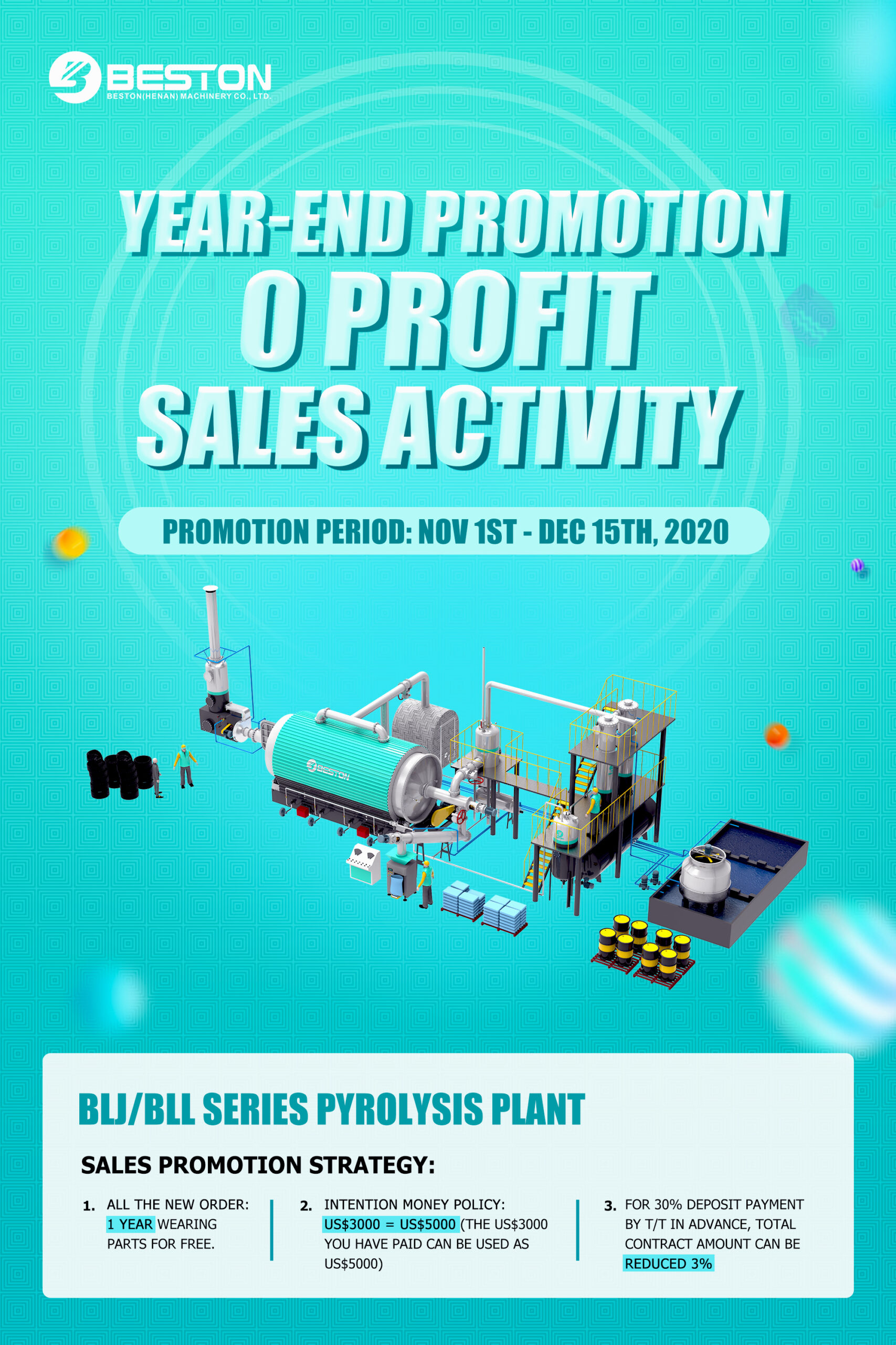 pyrolysis plant discount
