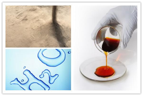 Productos finales de la planta de tratamiento de lodos de aceite