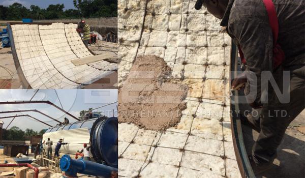 Reactor Carcasa del sistema de pirólisis de lodos de petróleo