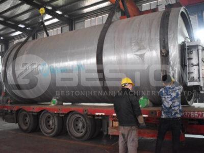 BLJ-16 مصنع الانحلال الحراري للإطارات يتم شحنه إلى السودان