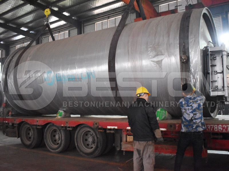 BLJ-16 Waste Tyre Pyrolysis Plant Shipped to Sudan