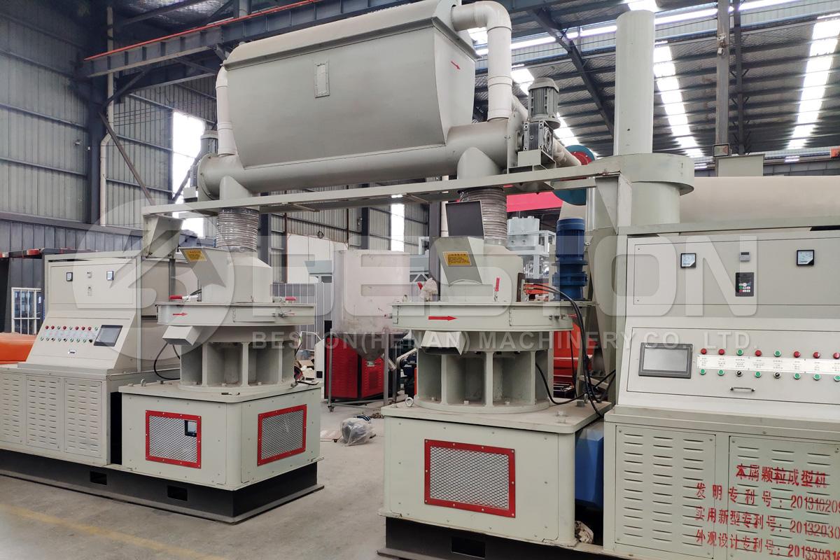 Máquina para fabricar pellets de biomasa