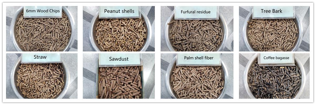 Productos terminados: pellets de biomasa de la máquina para fabricar pellets de biomasa